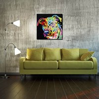 angels art prints - Home Decor Painting Calligraphy Angel Pit Bull Dean Russo Print Oil Painting on Canvas Wall Art Picture Home Decoration No