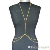 Precio de Las mujeres atractivas de oro-Oro de las mujeres atractivas de la manera del cuerpo del vientre de la cintura de la cadena Bikini Beach arnés collar 00AY