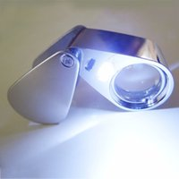 Wholesale New x mm Lens Jewelry Magnifier Illuminated Loupe withLED new arrival