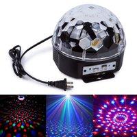 Wholesale YouOKLight W Digital RGB LED Music Crystal Magic Ball Effect Light USB Disco DJ Stage Lighting Remote Control Bluetooth Control AC100