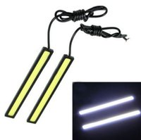 Wholesale 2 Waterproof Daytime Running Lights cm COB Cool White Car LED Lights V For DRL Fog Light Driving lamp