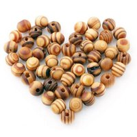 Wholesale 100pcs Brown Wood Spacers Loose beads Necklace Bracelet Charms Findings mm C00208 FAH