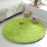 Wholesale Round carpet sitting room bedroom bed circular carpet Non slip fitness yoga mat winter soft warm rug Diameter