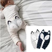 Wholesale Kids INS Pp Pants Baby Animal Fox Tights Figure Harem Pants Geometric Cropped Trousers Leggings Baby panties stereo modelling of pants