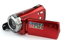 Wholesale Red Portable High Definition Digital Video Camera Camcorder Mega Pixel P HD inch TFT LCD Screen XDigital Zoom
