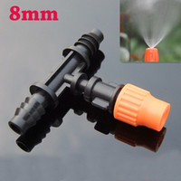 Wholesale 12Pcs Plastic Greenhouse Garden Irrigation Atomizing sprinkler Nozles For Gardening Process Farm Watering Equipments Hight Quality