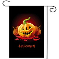 Wholesale 2016 Pumpkin Halloween Decoration Party Bar Garden Flag Indoor Flags Custom Garden Flag Home Banner Flag