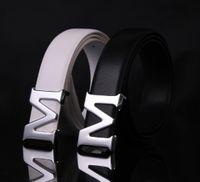 air compressor belt - 2016 Fashion Decorative Adult Belt Male Metal Buckle Belts Men Casual Pirate M Buckle Belt Cheap belt drive air compressor