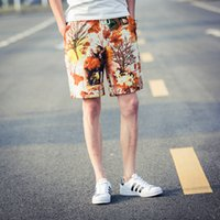 Wholesale cotton different colors for choose summer male beach shorts personality ethnic style Knee Length Amazing Fashion plus size running shorts
