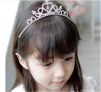 Wholesale 2016 Boutique Korean version of tire children show hair hoop crown wedding accessories children head ornaments lomefo