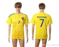 Wholesale Ukraine EURO CUP european national team soccer jersey shirt uniform kit home away kits jerseys man uniforms men shirts tailand quality