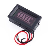 acid battery tester - 12v Acid lead batteries indicator Battery capacity digital LED Tester Voltmeter Merry Christmas hot sale free ship