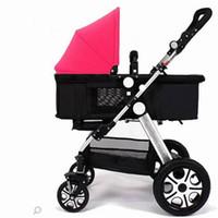 Wholesale Buggies Baby Stroller Mountain Buggy Nano In Ruby Brand New Open Box Shopping Basket Type Four Wheel Shock Baby Cart Two Way Car Baby