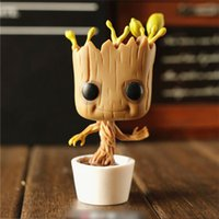 Wholesale New cm FUNKO POP Guardians of the Galaxy Groot Vinyl Bobble Head Figure PVC Action Figure For Gift of gz