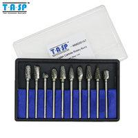 Wholesale 10PC Tungsten Carbide Rotary Burrs Set Dremel Accessories for Rotary Tools Milling Cutter Engraving Bits