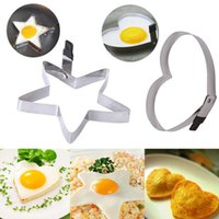 Wholesale Kitchen Pancake Stainless Steel Cute Heart Love Shaped Cook Fried Egg Mold HOT R91