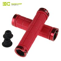 Wholesale 1 Pair Base Camp Mountain Road Bike Handlebar Grips Bicycle Grips Fixed Gear Cycling Double Lock on Nonslip Rubber Bar