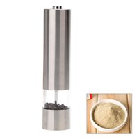 Wholesale Stainless Steel Portable Electric Pepper Grinder Muller Pepper Mill with Light Seasoning Grinding Kitchen Accessories Tools