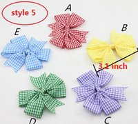 baby gingham - 5 style available Baby Girl Handmade Butterfly Gingham School Summer Dress Hair Bow Clip COLOUR