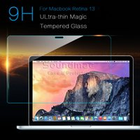 Wholesale Mac Macbook Pro inch LCD protective Film guard cover skin Ultra thin Tempered Glass screen protectors retail package