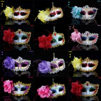 attractive faces - Women Attractive Mask Halloween Venetian Eye Mask Cosplay Half Face Masks With Color Happy Easter Dance Party Mask P C