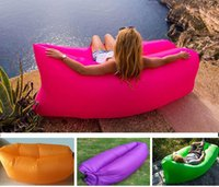 Wholesale New Portable Outdoor Lazy Pads Inflatable Mattress Air Pads Sleeping Bags Beach Camping Backpacking Travel Bed Lazy Chair