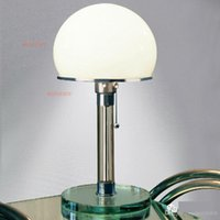 bauhaus table lamp - WG24 Bauhaus Lamp table lamp designed by Wilhelm Wagenfeld modern Bauhaus desk lamp glass base table lighting