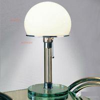 bauhaus lamp - WG24 Bauhaus Lamp table lamp designed by Wilhelm Wagenfeld modern Bauhaus desk lamp glass base table lighting