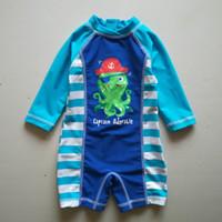 baby uv swimwear - 0 M Octopus Romper Rashguard Dinosaur swimsuit long sleeve meisje badpak maillot de bain baby swimwear uv protected sun safe