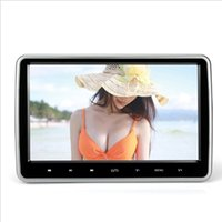 Wholesale 10 Inch Car Headrest Monitor DVD Player USB SD HDMI FM TFT LCD Screen Touch Button Bit Game Remote Control
