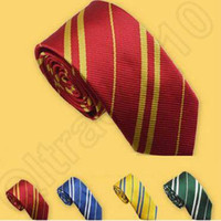 Wholesale Harry Potter Neckties School Style Striped Tie Ascot Dress Shirt Student Ties Gryffindo Ravenclaw Hufflepuff Slytherin Tie CCA4993