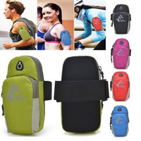 Wholesale Sports Running Jogging Gym Armband Arm Band Holder Bag For Mobile Phones More Colors FK801 Retail Sales