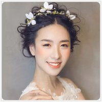 Wholesale Wedding hair accessories baroque butterfly bride headdress with white color