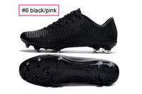 Wholesale NEW Cristiano Ronaldo cleats CR7 CR MV XI BLACK PINK Soccer Shoes