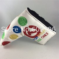 Wholesale Golf Clubs Putter Head CoverS PU High Quaity T Putter Headcover