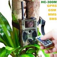 GPRS GSM MMS scouting Cámaras HC300M MMS GSM visión nocturna Cámaras de caza Trail Cámaras con alta ganancia larga antena
