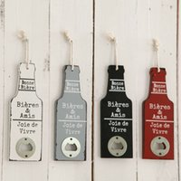 Wholesale Bottle Opener Beer Creative Beer Mural Bar Cafe Retro Soft Wall Hangings Ornaments Home Decoration Wall Opener Stainless Steel Cola GJ58