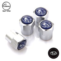 Wholesale CHROME SILVER STAR BLUE WHEEL VALVE CAP TYRE TIRE STEM AIR Dust Proof CAPS for SUBARU LEGACY Forester Outback Rally WRX WRC Impreza