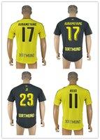 16-17 REUS jersey de fútbol Jersey de calidad superior de Tailandia RUES, PULISIC, jersey de fútbol de KAGAWA HUMMELS camisetas camiseta de fútbol lejos de casa 16-17.