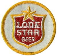beer patches - Vintage Lone STAR Beer Collectors Embroidered iron on patch MORALE Motorcycle Club biker vest badge retro emo punk applique