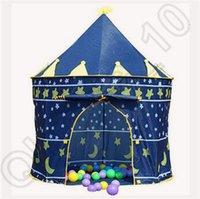 Wholesale 60pcs CCA4327 High Quality Children Beach Tent Prince And Princess Palace Castle Children Playing Indoor Outdoor Toy Tent Cartoon Game House