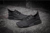 Wholesale Drop Shipping Original NMD Runner Primeknit Yeezyd Boost Pirate Black Men s Sports Running Shoes Men Shoe Size
