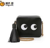 bamboo packaging manufacturers - Brand handbags spring new European and American cartoon chain shoulder diagonal package pu black bag manufacturers