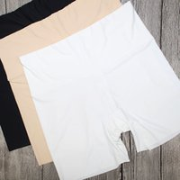 Wholesale Sexy Security - Summer Cool Pleasantly Cool Slip A Piece Of Type High Ice Silk Waist Trace Defence Wardrobe Malfunction Security Pants Trisection Pants Four
