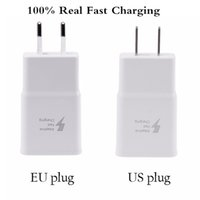 Wholesale 100 Real FAST CHARGER V A V A Adaptive Fast Charging USB Travel Wall Charger AC Power Adapter With EU US Plug For Samsung S6 NOTE4
