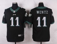 Wholesale Wentz New Draft Mens Eagles Stitched Black Jerseys Free Drop Shipping lymmia Mix order