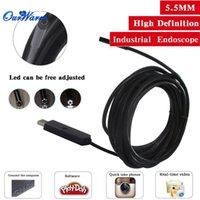 Wholesale M mm Diameter USB2 Waterproof LED light Endoscope Borescope Inspection Wire Camera for XP WIN7 WIN8 VISTA MAC