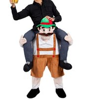 beer costumes - Carry Me Bavarian Beer Guy Mascot Costume Ride On Character Fancy Dress Ride On Halloween Costumes Funny Clothing