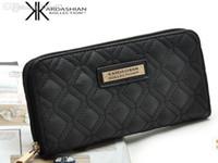 Wholesale Black white KIM Kardashian kollection long design women s wallet KK clutch bags wallet womenstylish fashion women s wallet