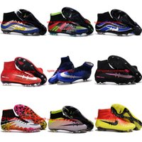 achat en gros de indoor soccer shoes-À bas prix 2016 Haute CHEVILLE Chaussures de football Superfly CR7 Mens Football Crampons Superfly FG AG Magista Indoor bhm HypeRVEnom 2 Taille 39-46 football chaussures